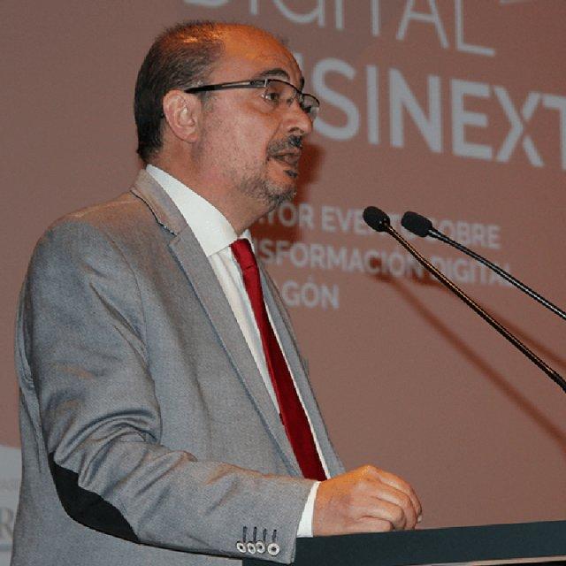 Javier Lambán anima a aprovechar la era digital como una oportunidad para Aragón en el Digital Businext