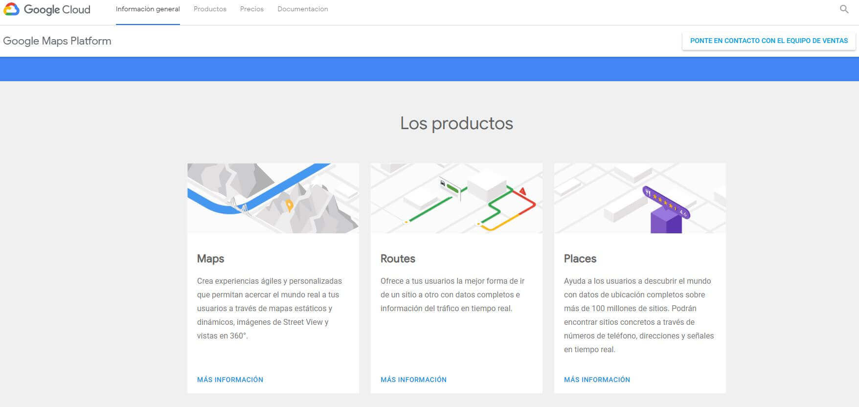 productos google maps platform