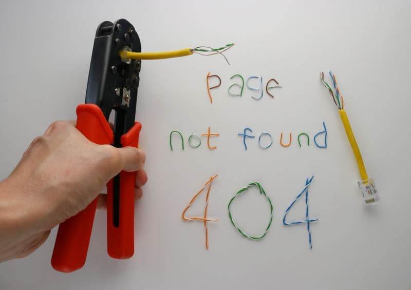 Error pagina 404