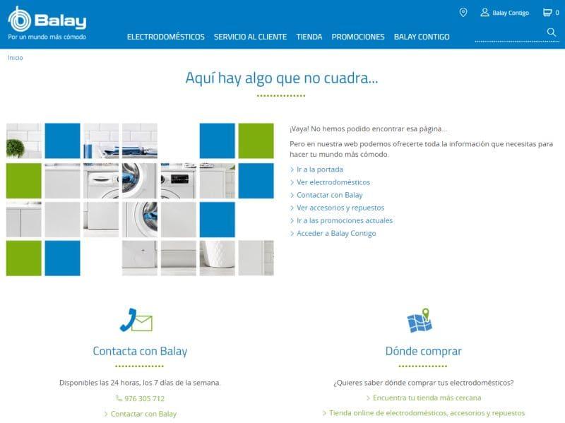 error 404 pagina Balay