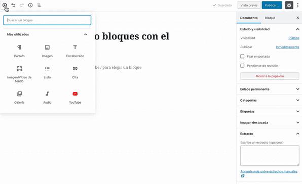 nuevos bloques WordPress