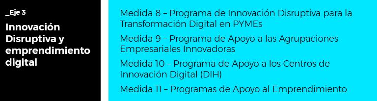 Plan digitalización de PYMES 2021-2025 - Eje 3