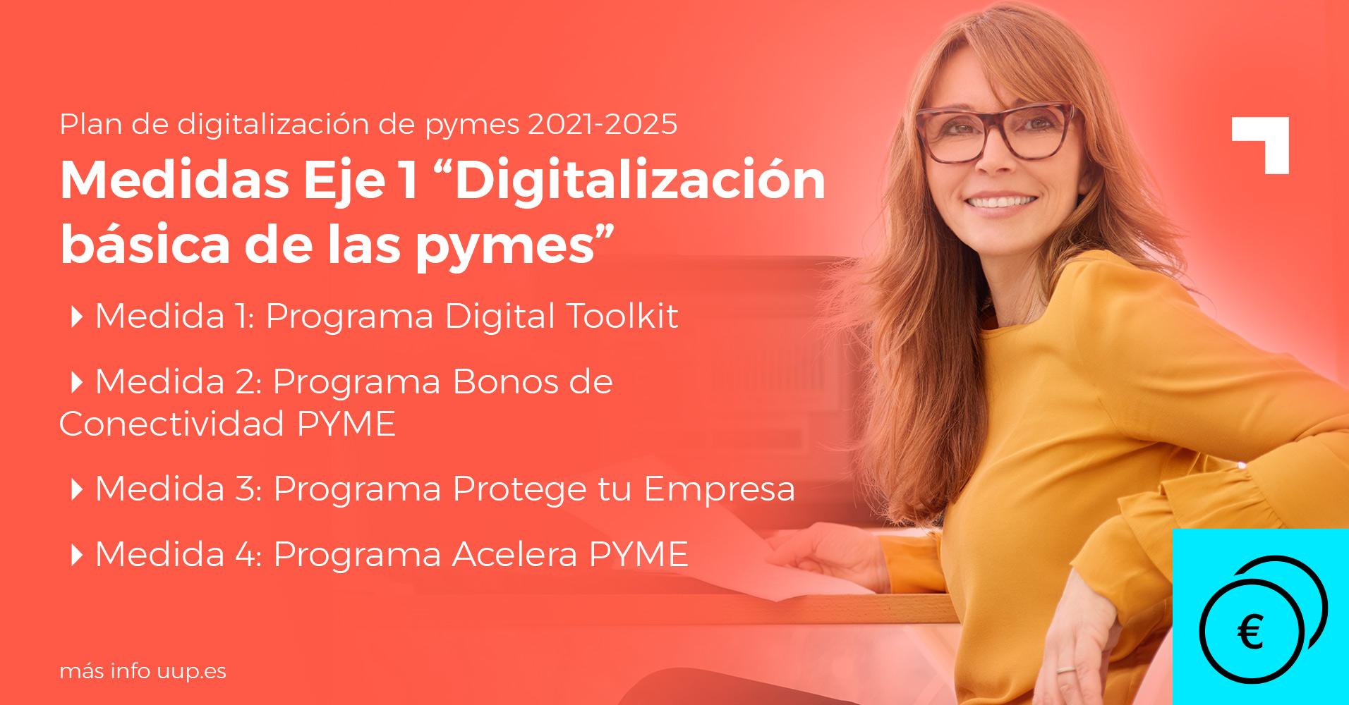"""Medidas eje 1 """"Digitalización básica de las pymes"""""""