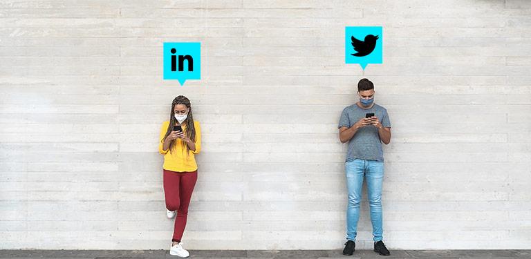 LinkedIn y Twitter son dos buenas redes para atraer clientes